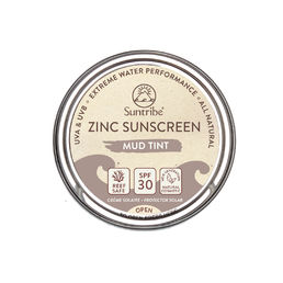 Suntribe - All Natural Face & Sport Zinc - Mud Tinted - Aurinkovoide (SPF30) - 45 g