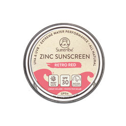 Suntribe - All Natural Face & Sport Zinc - Retro Red- Aurinkovoide (SPF30) - 10g