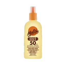Malibu - Once Daily - Solkräm spray (SPF50)