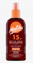Malibu - Dry Oil Spray (SPF15)